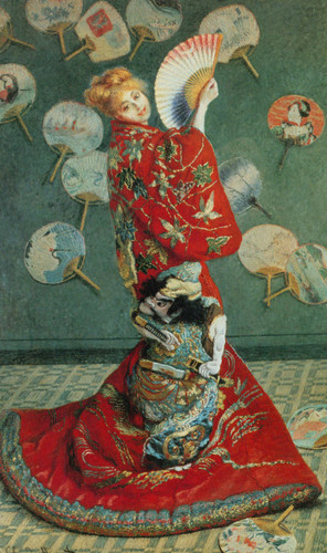 Madame Monet In Japanese Costume By Claude Monet