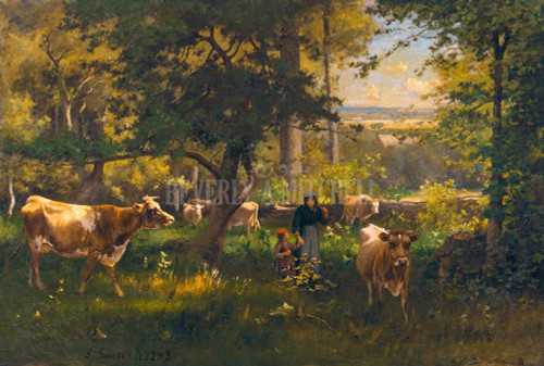 A Summer Morning By  George Inness