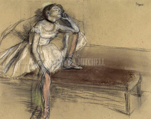 A. Coryphee Resting By  Degas Edgar