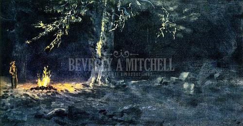 Campfire Yosemite Valley 2 by Albert Bierstadt