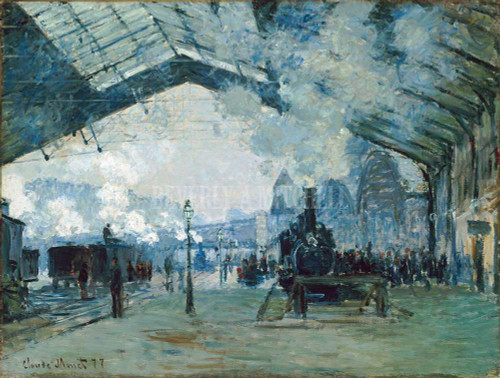 Arrival Of Normandy Train Gare Saint Lazare By  Monet Claude