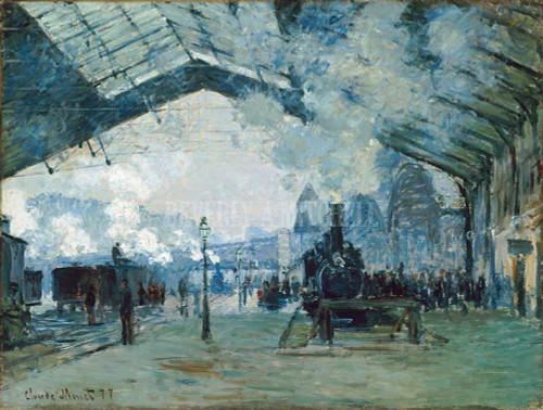 Arrival Of Normandy Train Gare Saint Lazare By  Monet Claude