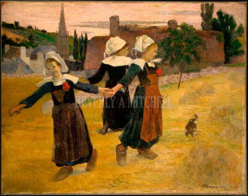 Breton Girls Dancing Pont Aven ByPaul Gauguin