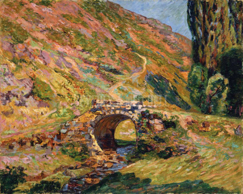 Bridge In The Mountains By Guillaumin Jean Baptiste