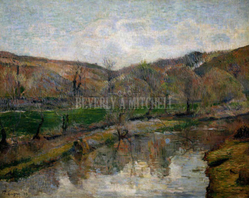 Brittany Landscape By Paul Gauguin