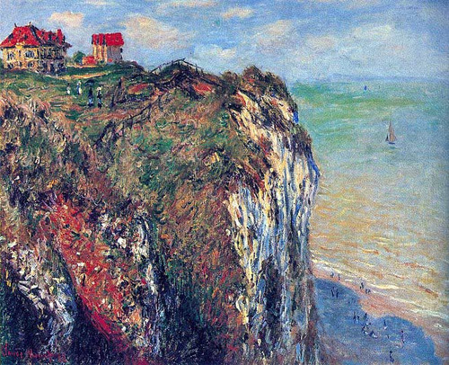 Cliffs Near Dieppe 1882 By Claude Monet