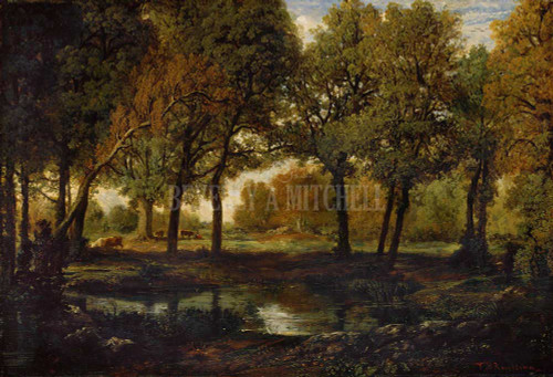 Cliffs Of The Petites Dalles By Monet Claude By  Pool In The Forest