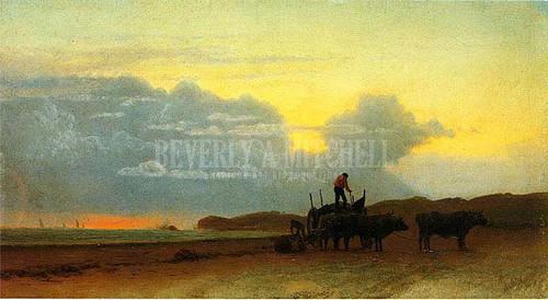 Coastal View Newport by Albert Bierstadt