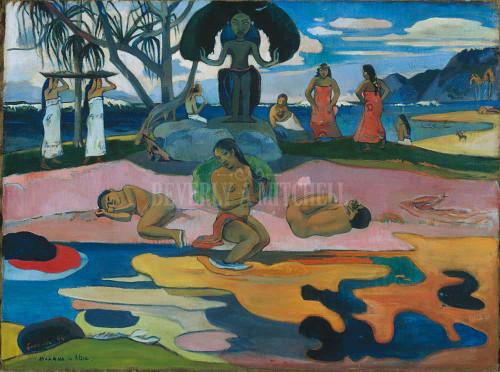 Day Of The God Mahana No Atua By Paul Gauguin