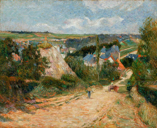 Entrance To The Village Of Osny ByPaul Gauguin