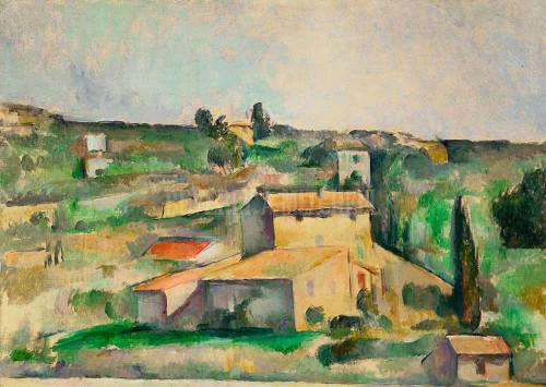 Fields At Bellevue By  Cezanne Paul