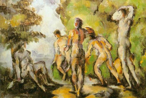 Five Bathers By Paul Cezanne