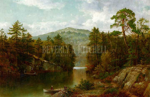 A View On Lake George by David Johnson