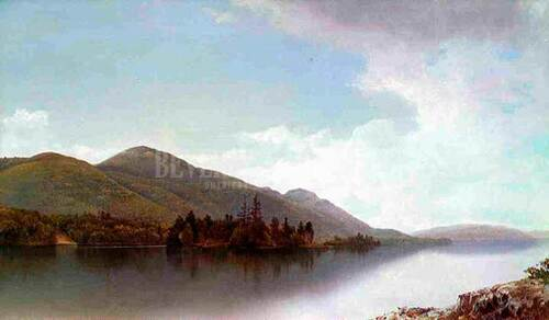 Buck Mountain Lake George by David Johnson