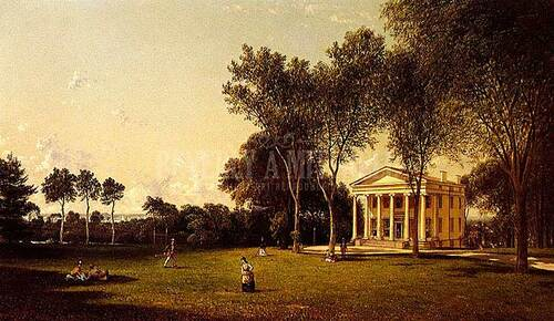 Croquet On The Lawn by David Johnson
