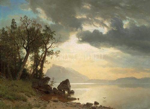 Lake Tahoe California By Albert Bierstadt