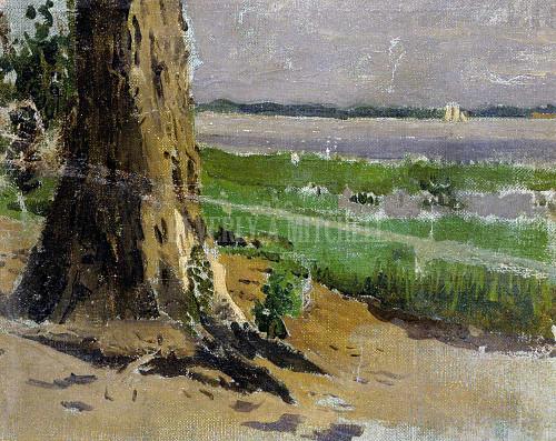 Landscape Sketch By Thomas Eakins