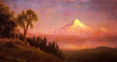 Mount St. Helens Columbia River Oregon by Albert Bierstadt