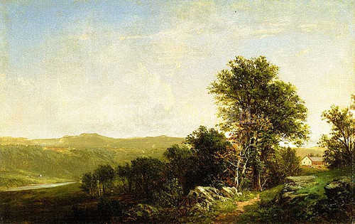 Landscape With House by David Johnson