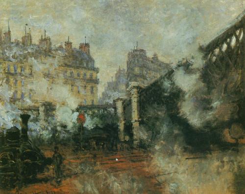 Le Pont De L Europe By Claude Monet