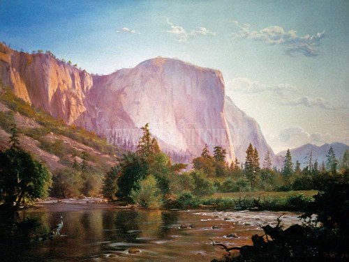 Louveciennes Snow By Monet Claude By El Capitan And Merced River Yosemite