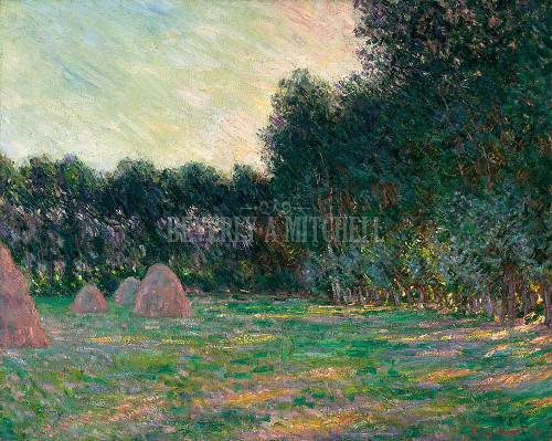 Meadow With Haystacks Near Giverny By Monet Claude