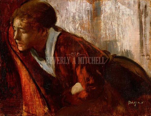 Melancholy By  Degas Edgar