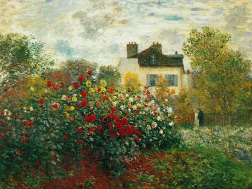 Monet S Garden At Argenteuil By Claude Monet