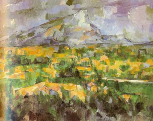 Mont Sainte Victoire View From Lauves By Paul Cezanne