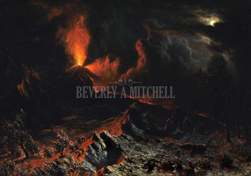 Mount Vesuvius At Midnight By Albert Bierstadt