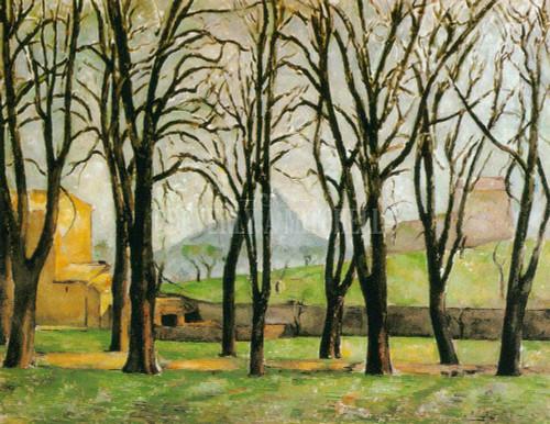 Path Of Chestnut Trees In Jas De Bouffan In The Winter By Paul Cezanne