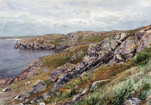 Rhode Island Coast Conanicut Island By Richards William Trost
