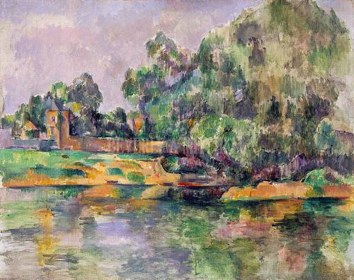 Riverbank By Cezanne Paul