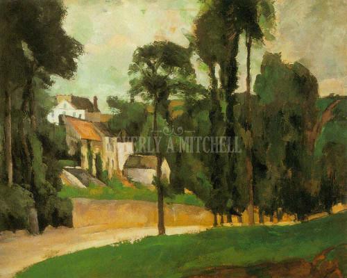 Road At Pontoise Clos Des Mathurins By Paul Cezanne