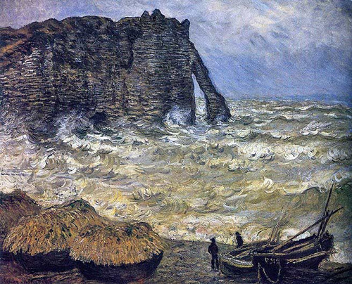 Rough Sea At Etretat 1883 By Claude Monet