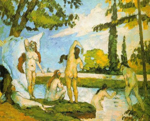 Six Women Bathing By Paul Cezanne