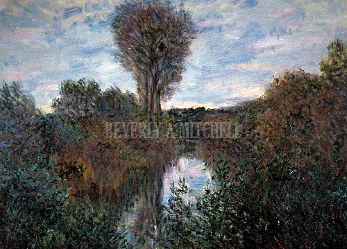 Small Bend In The Seine By  Monet Claude