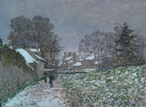 Snow At Argenteuil By Monet Claude