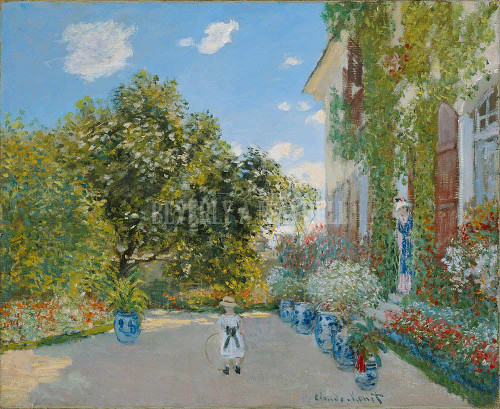 The Artist S House At Argenteuil By Monet Claude