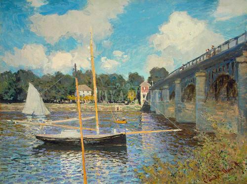 The Bridge At Argenteuil By  Monet Claude
