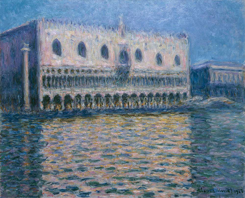 The Doge S Palace In Venice By Monet Claude