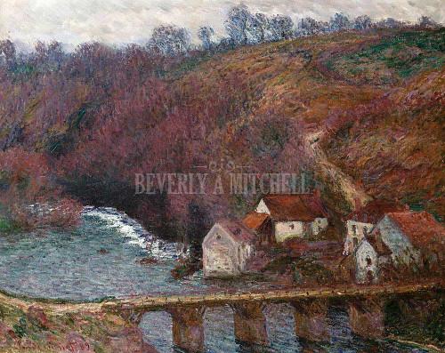 The Grand Creuse At Pont De Vervy By  Monet Claude