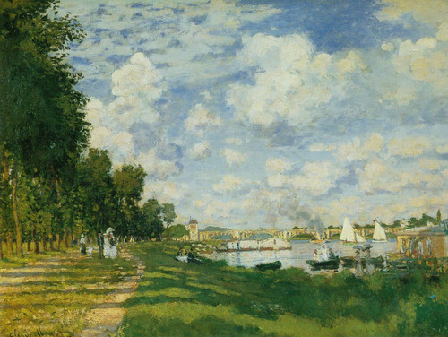 The Harbour At Argenteuil By Claude Monet