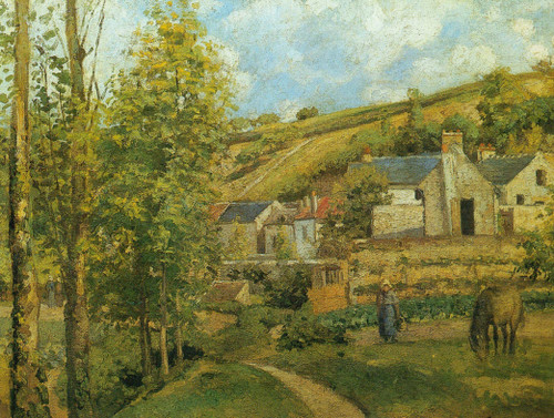 The Hertage At Pontoise By Camille Pissarro
