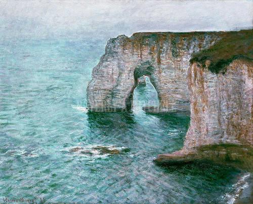 The Manne Porte At Etretat By Monet Claude