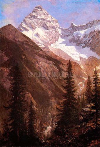 Canadian Rockies Asulkan Glacier by Albert Bierstadt