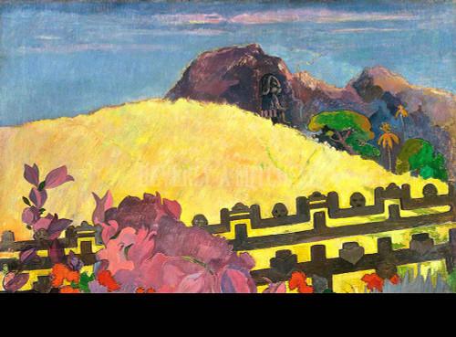 The Sacred Mountain Parahi Te Marae By Paul Gauguin