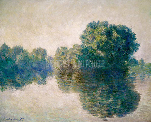The Seine At Giverny By Monet Claude
