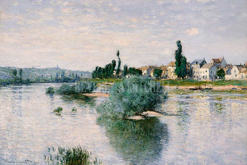 The Seine At Lavacourt By Monet Claude