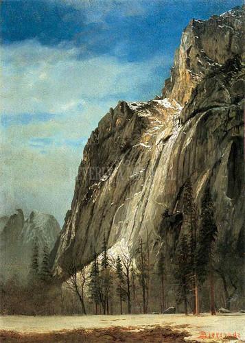Cathedral Rocks A Yosemite View by Albert Bierstadt